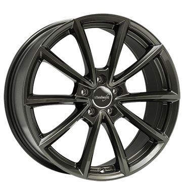 Wheelworld, WH28, 7,5x17 ET45 5x112 66,6, dark gunmetal lackiert