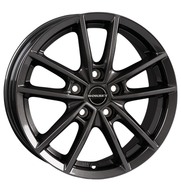 Borbet, W, 6x15 ET43 5x100 57,1, mistral anthracite glossy