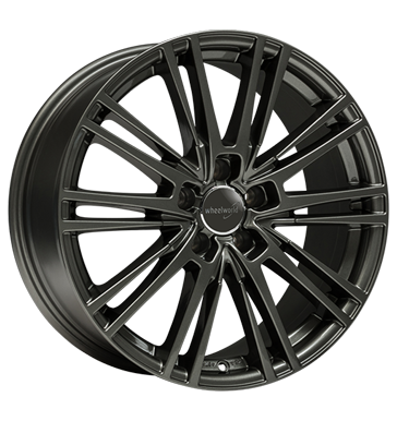Wheelworld, WH18, 7,5x17 ET45 5x112 66,6, dark gunmetal lackiert